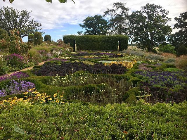 Visit to #broughtongrange. Beautiful walled garden designed by clever clogs @tomstuartsmith